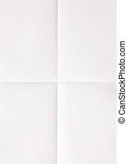 hoja, papel, blanco