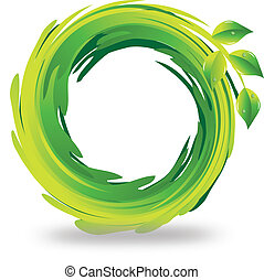 Hojas borrosas logotipo