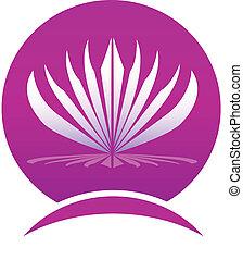 Hojas de loto logotipo de la compañía