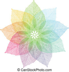 Hojas de primavera coloridas, vector