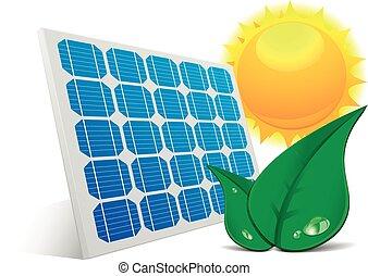 Hojas solares de panel solar