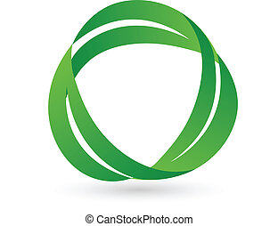 Hojas verdes logotipo de salud