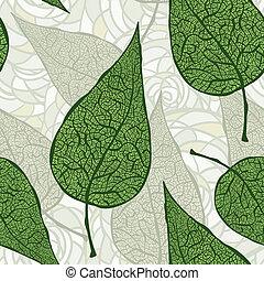 Hojas verdes sin vector