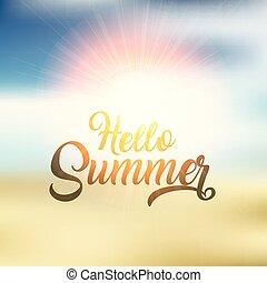 Hola, diseño de fondo de verano 2304