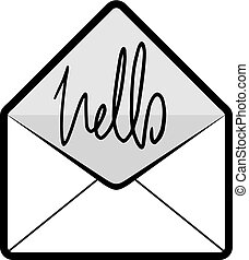Hola mensaje de correo