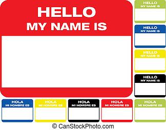Hola, mi nombre es etiqueta