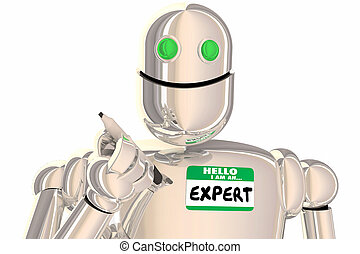 Hola robot experto soy una ilustración profesional 3D