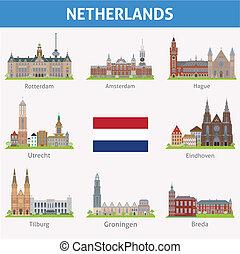 Holanda. Símbolos de ciudades