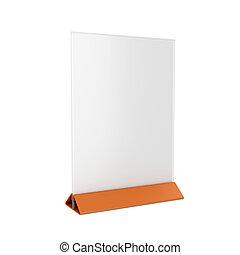 Holder aislado en fondo blanco, versión 3D