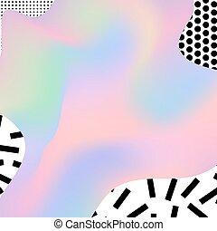 holographic, memphis, plano de fondo