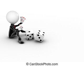 Hombre 3D, Casino en línea, juegos con el espacio
