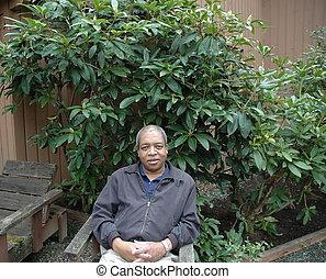 Hombre afroamericano.
