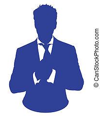 hombre, avatar, juicio negocio