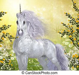 Hombre blanco unicornio
