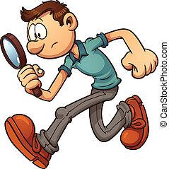 Hombre buscando