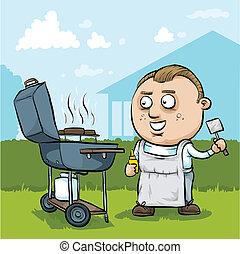 Hombre Cartoon BBQ