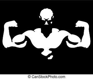 Hombre con vector muscular