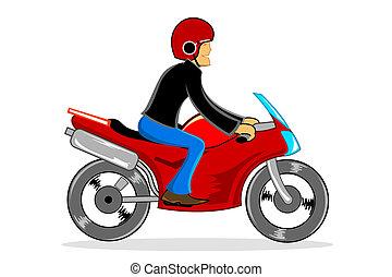 Hombre conduciendo bicicleta