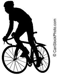 Hombre de bicicleta