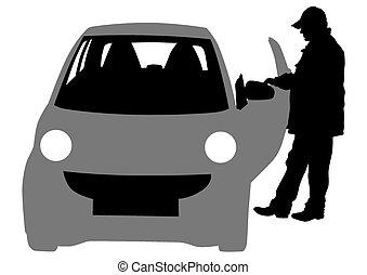 Hombre de coche