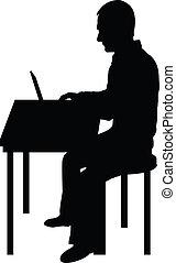 Hombre de la computadora negro