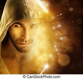 Hombre de luz