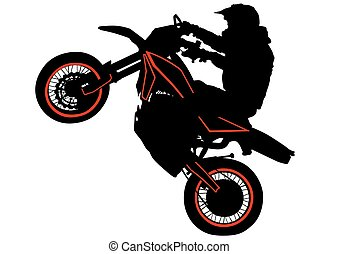 Hombre de moto deportiva