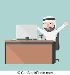 Hombre de negocios árabe, buen trabajo
