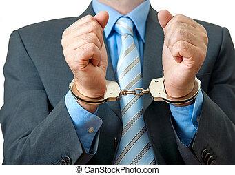 Hombre de negocios arrestado