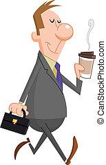 Hombre de negocios con café