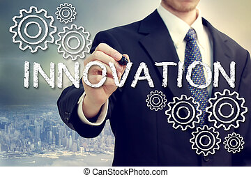 Hombre de negocios con concepto de innovación