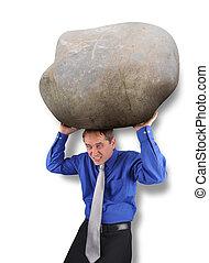 Hombre de negocios con mucho estrés