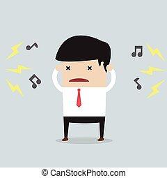 Hombre de negocios con ruido