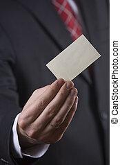 Hombre de negocios con tarjeta
