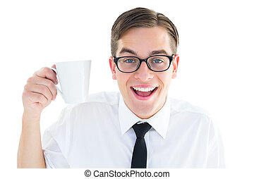 Hombre de negocios con una taza