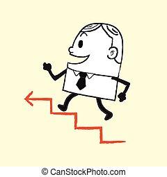 Hombre de negocios corriendo