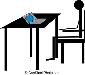 Hombre de negocios en el escritorio
