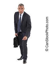Hombre de negocios en una carrera