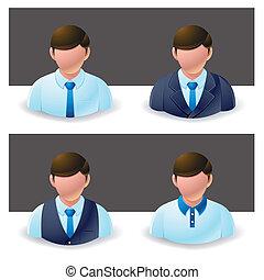 hombre de negocios, :, gente, icono