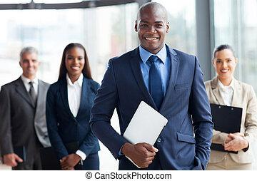 hombre de negocios, grupo, businesspeople, africano