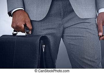 hombre de negocios, maletín