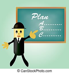 Hombre de negocios señalando planificación
