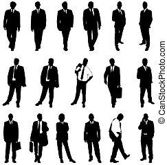 Hombre de negocios siluetas