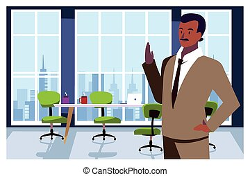 hombre de negocios, trabajo de la oficina