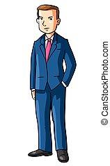 Hombre de negocios usando abrigo
