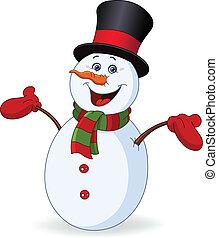 Hombre de nieve alegre