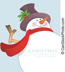 Hombre de nieve de Navidad