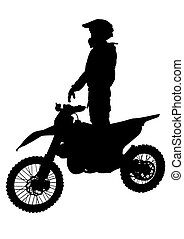 Hombre en bicicleta deportiva