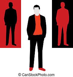 Hombre - ilustración vectorial