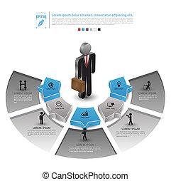hombre, posición, empresa / negocio
